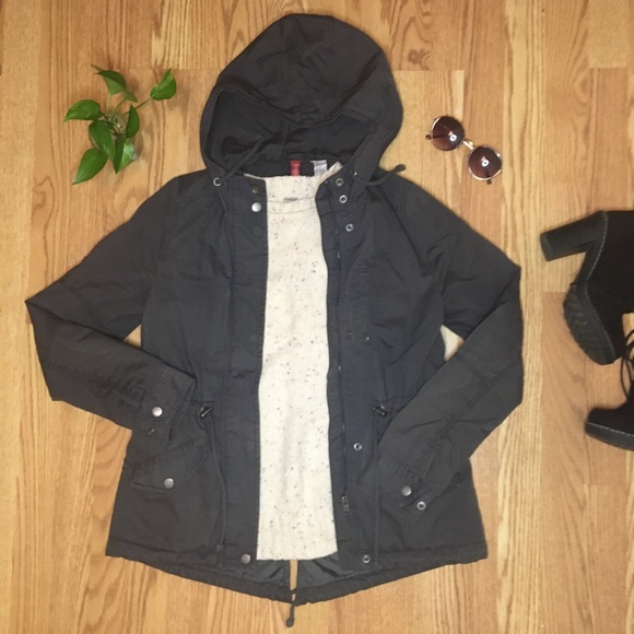 H&M Divided Utility / Cargo Hooded Jacket